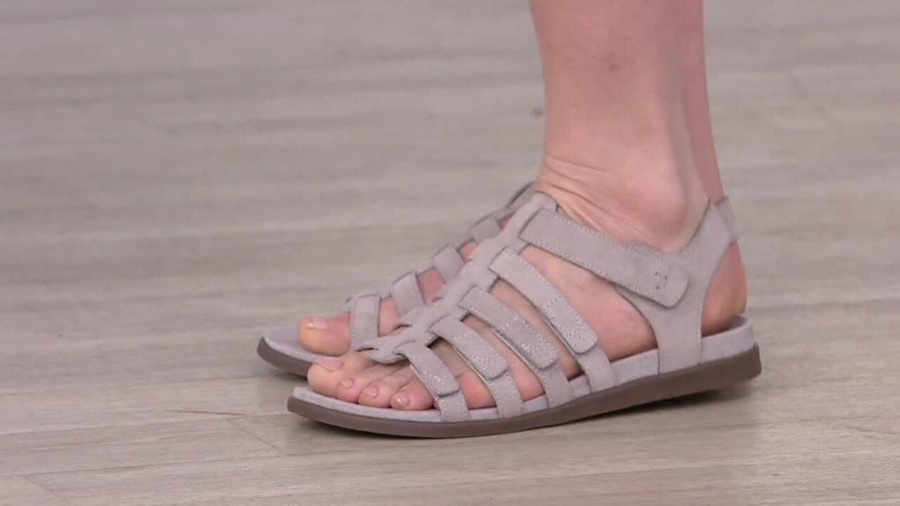 Vionic Suede Gladiator Sandals - Ritta