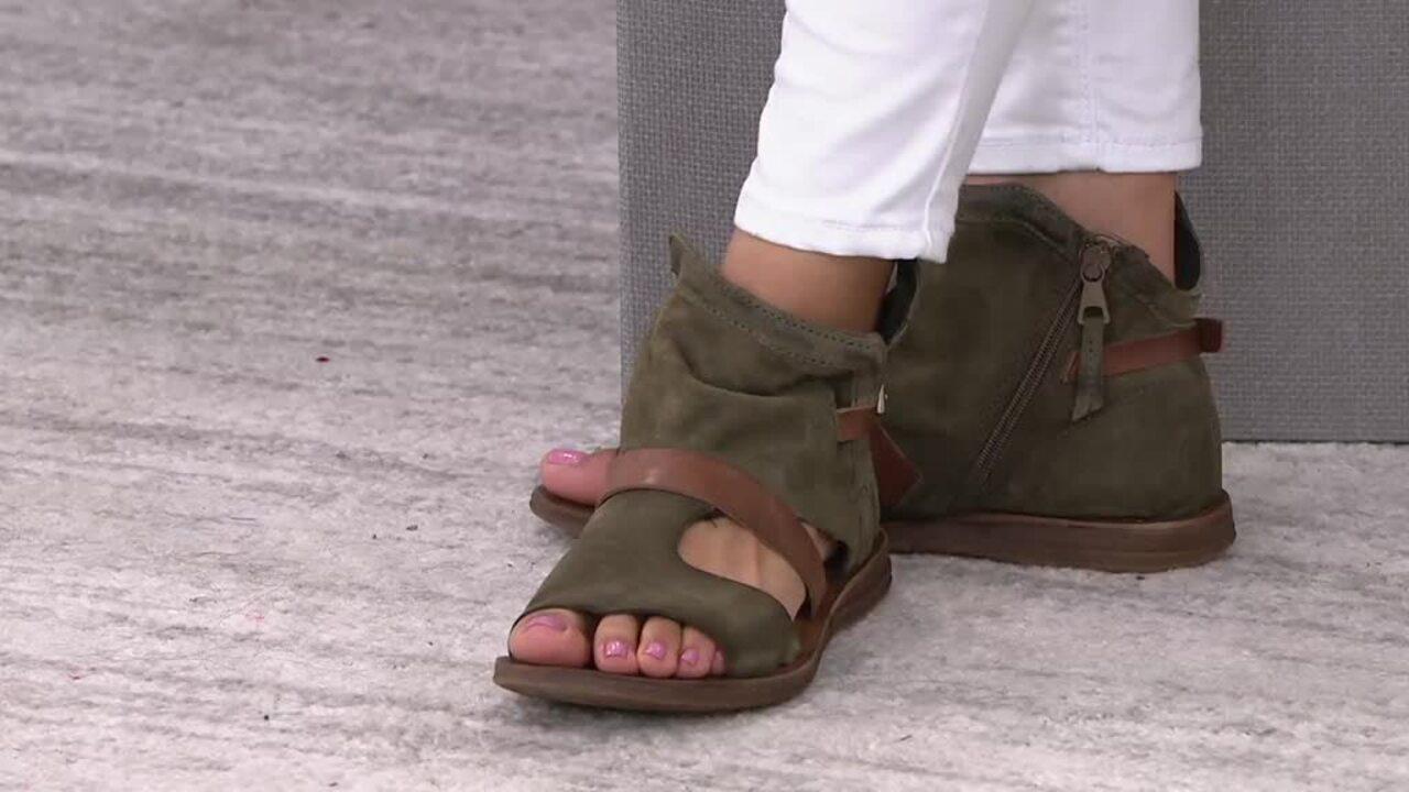 Miz Mooz Suede Wide Sandals - Finney