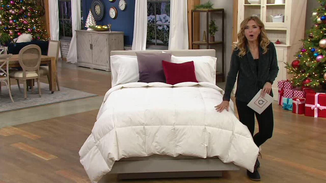 Royal Luxe White Goose Feather King Comforter Qvc Com