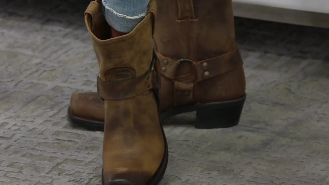 Frye Leather Pull On Ankle Boots