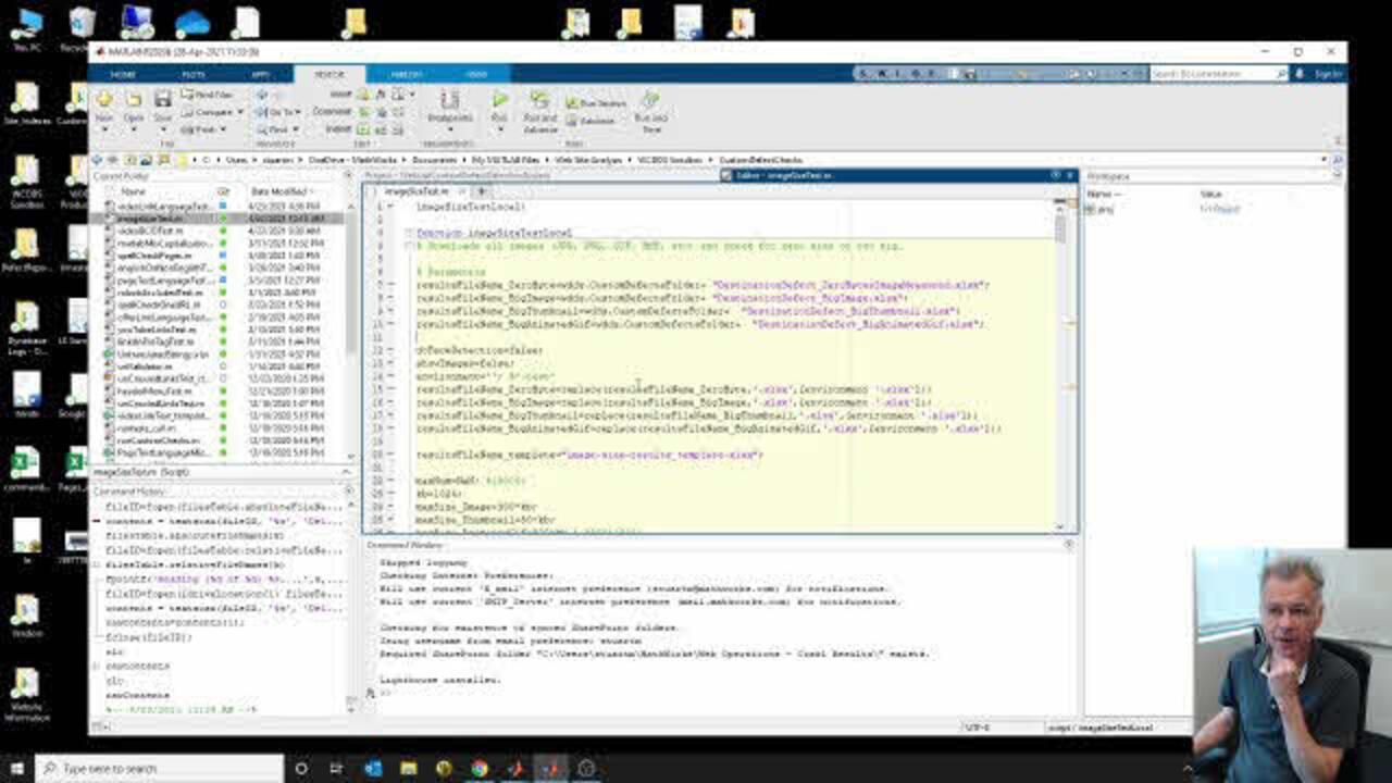 Repurposing Some MATLAB Code to Detect Large Web Images