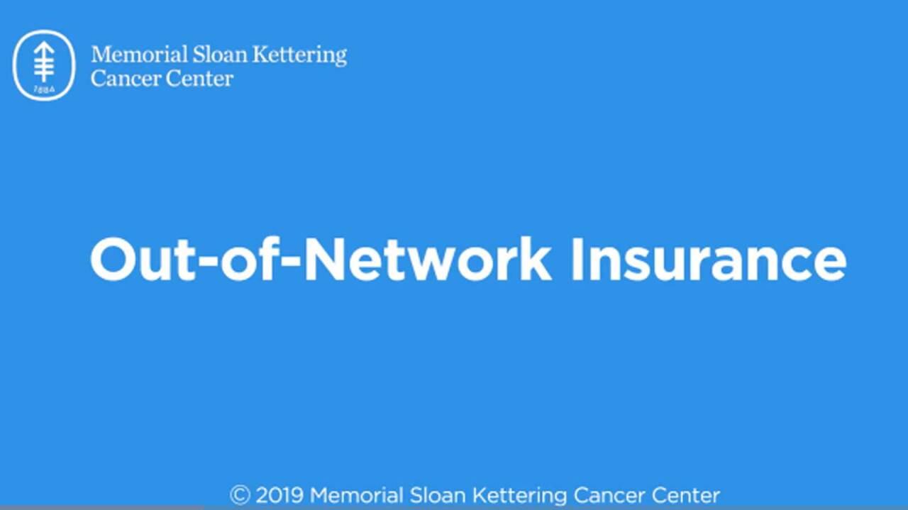 Insurance Plans Memorial Sloan Kettering Cancer Center