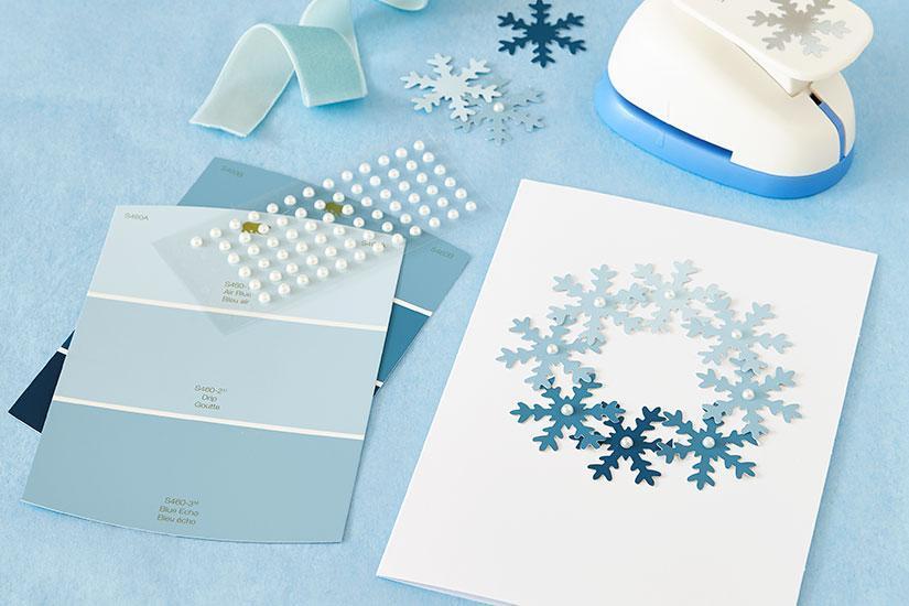 DIY Ombre Snowflake Card