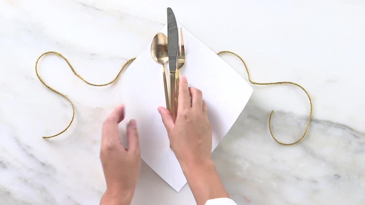 DIY Festive Flatware Wraps