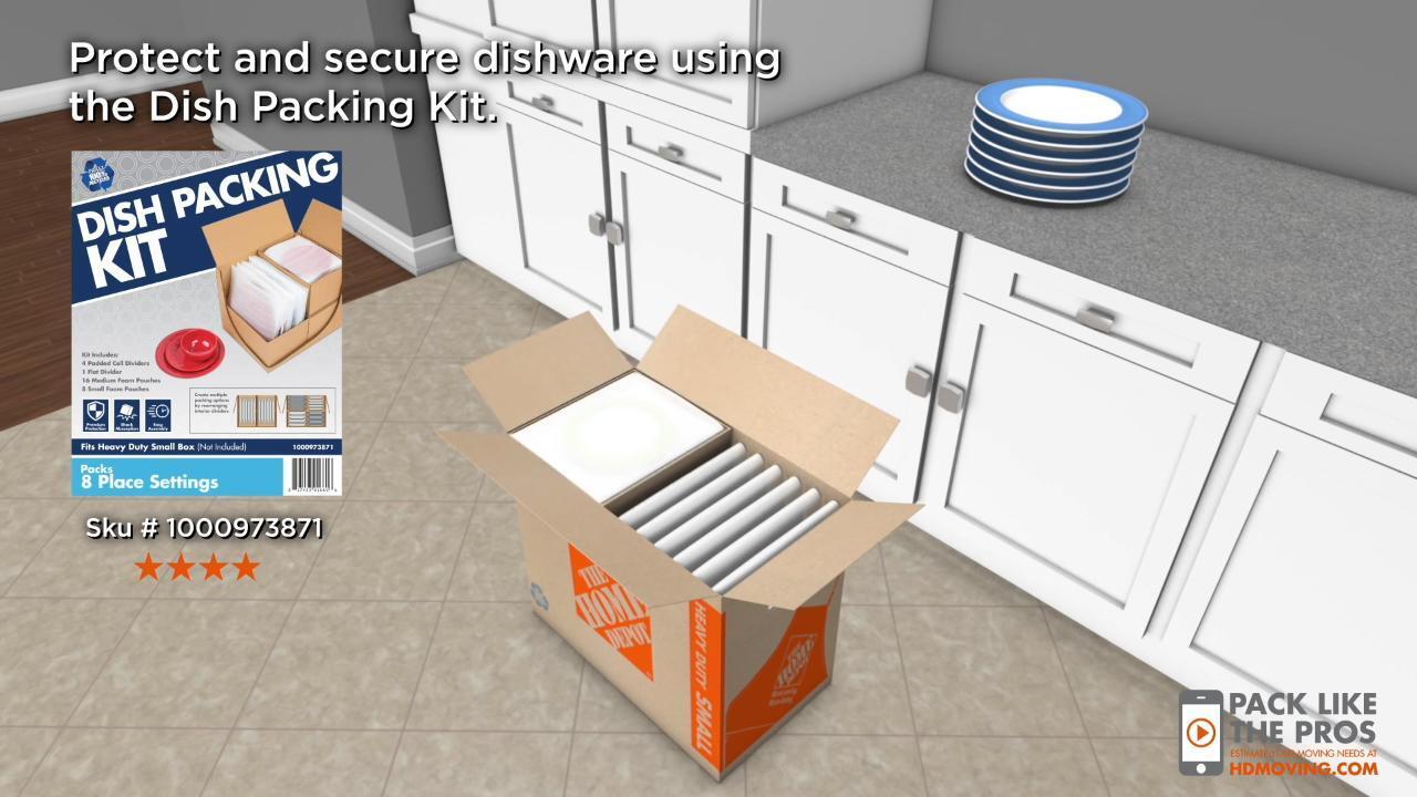 Pack of 2 V-7380 EcoBox Dish Pack Moving Kit