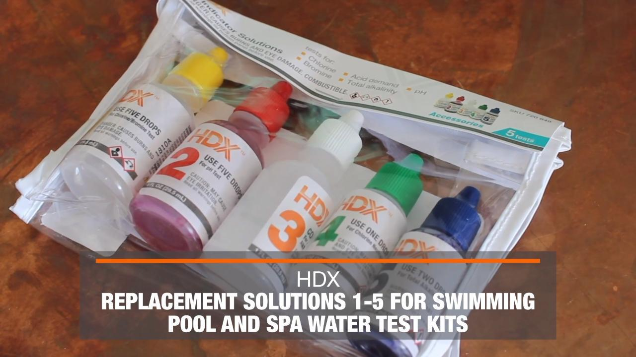 Hdx Replacement Solutions 1 5 For Swimming Pool And Spa Water Test Kits 63327 The Home Depot
