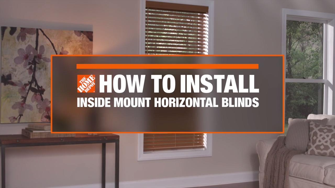 How To Install Faux Wood Blinds Videos And Tips At The Home Depot
