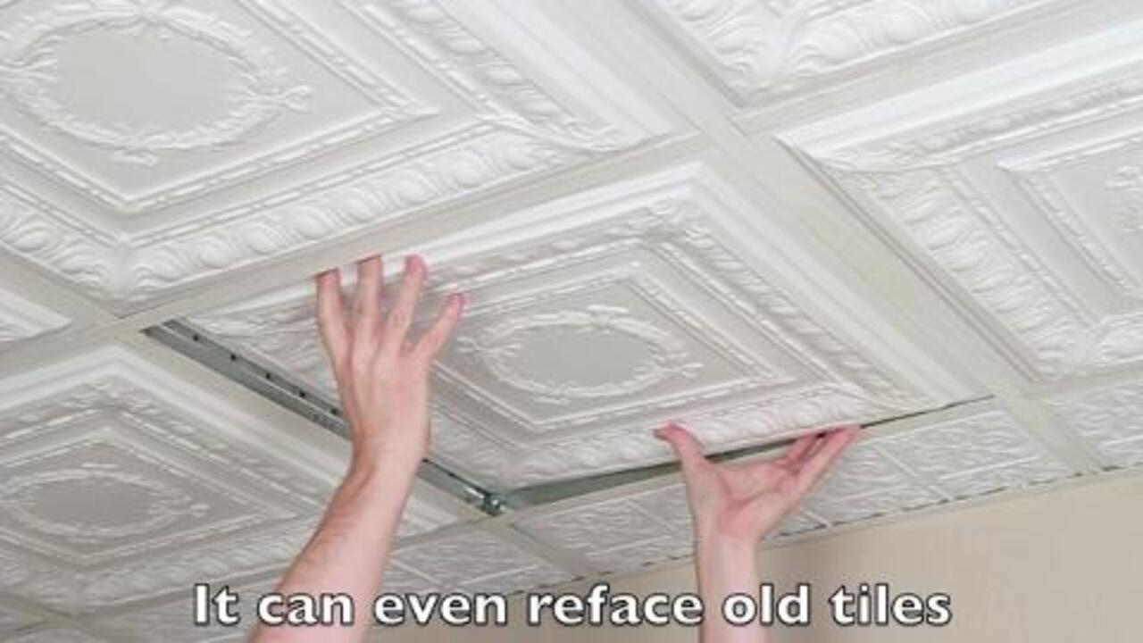 Ceiling Tile Skin Cherry Blossom 2 Kit 2x4 Grid Glue Up Decorative Panel Wrap