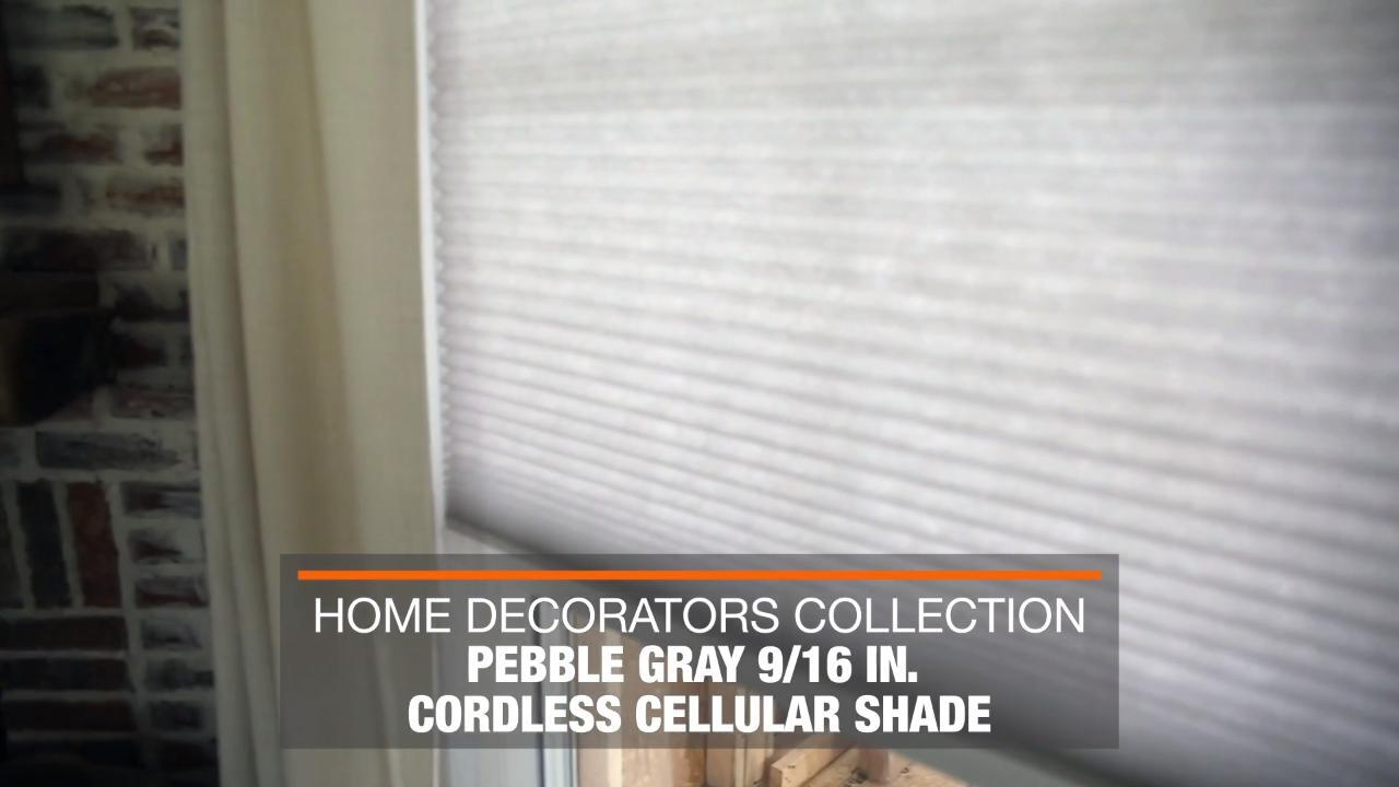 Home Decorators Collection Pebble Gray Cordless Light Filtering Cellular Shade 54 In W X 72 In L 10793478973361 The Home Depot