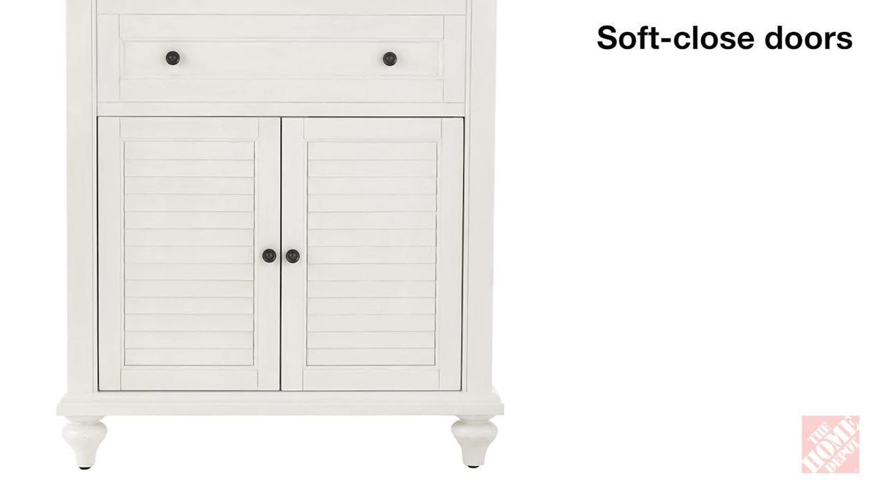 Home Decorators Collection Hamilton 31 In W X 22 In D Bath Vanity In Grey With Granite Vanity Top In Grey 10806 Vs31h Gr The Home Depot