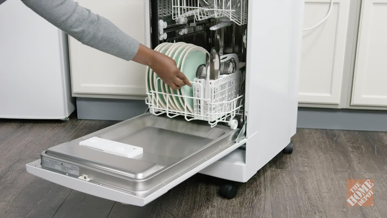 INV- 18 in. Portable Dishwasher in White with 8 Place Setting Capacity
