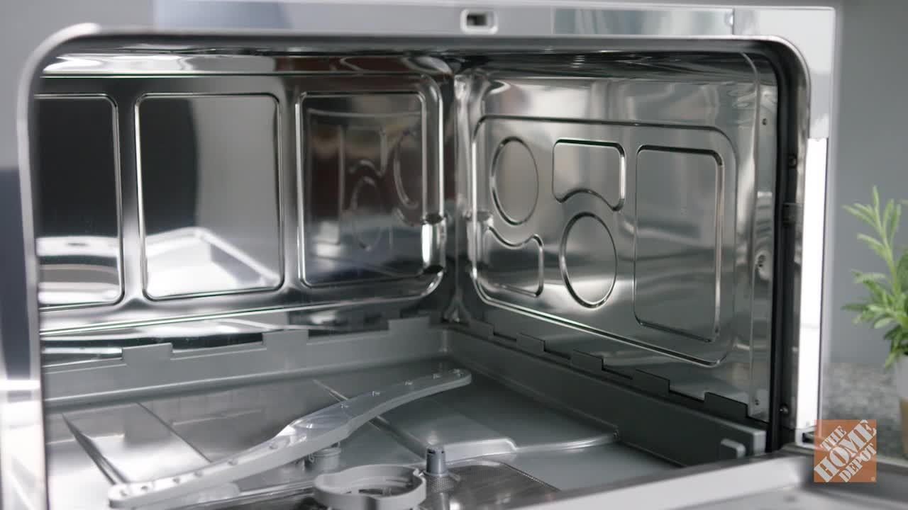 INV- Countertop Dishwasher in Silver with 6 Place Settings Capacity