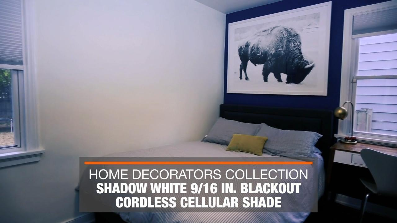 Home Decorators Collection Shadow White Cordless Blackout Cellular Shade 48 In W X 48 In L 10793478636471 The Home Depot
