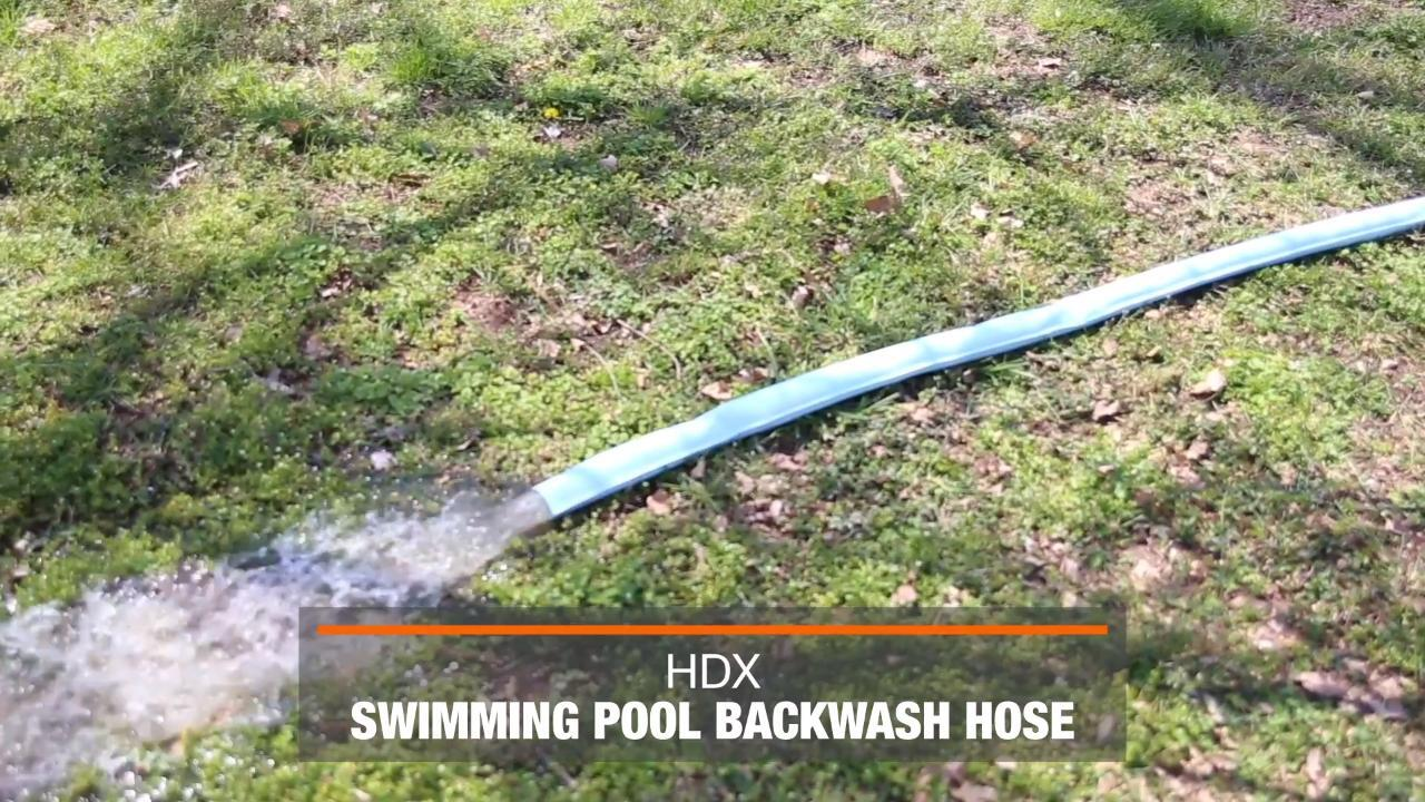Hdx 50 Ft X 2 In Swimming Pool Spa And Hot Tub Backwash Hose 69266 The Home Depot