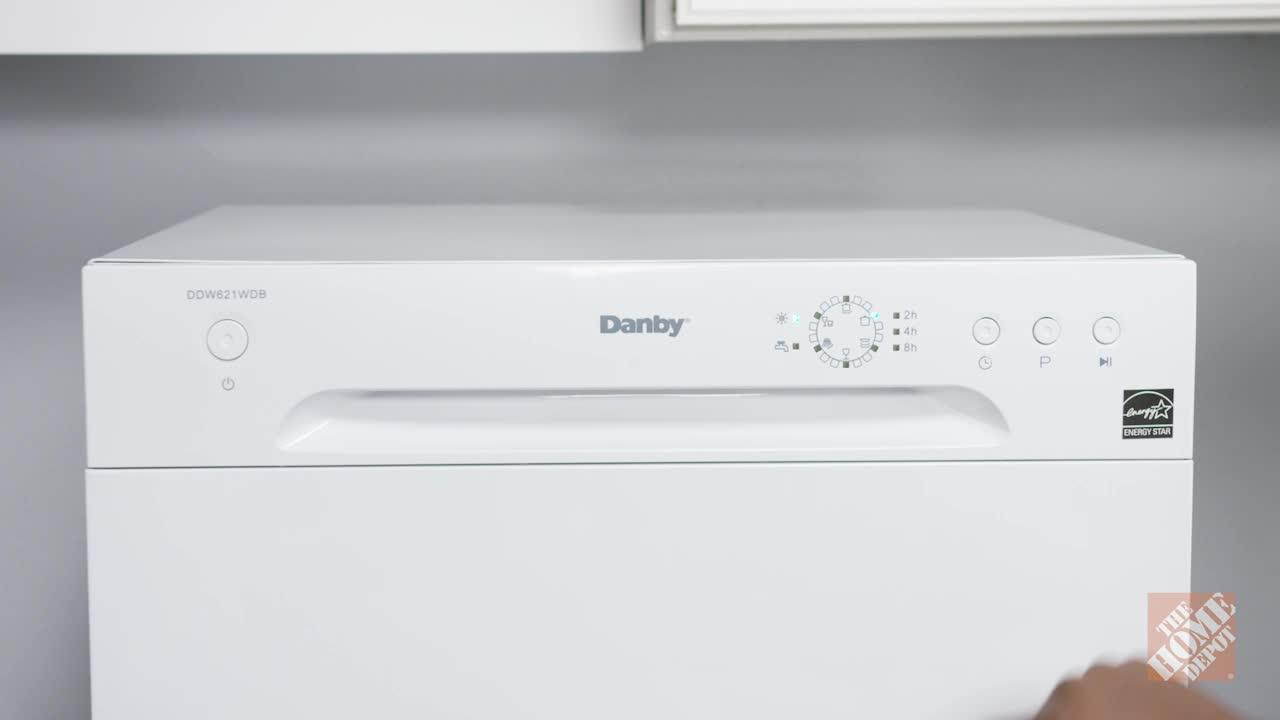 INV- Portable Dishwasher in White with 6 Place Setting Capacity
