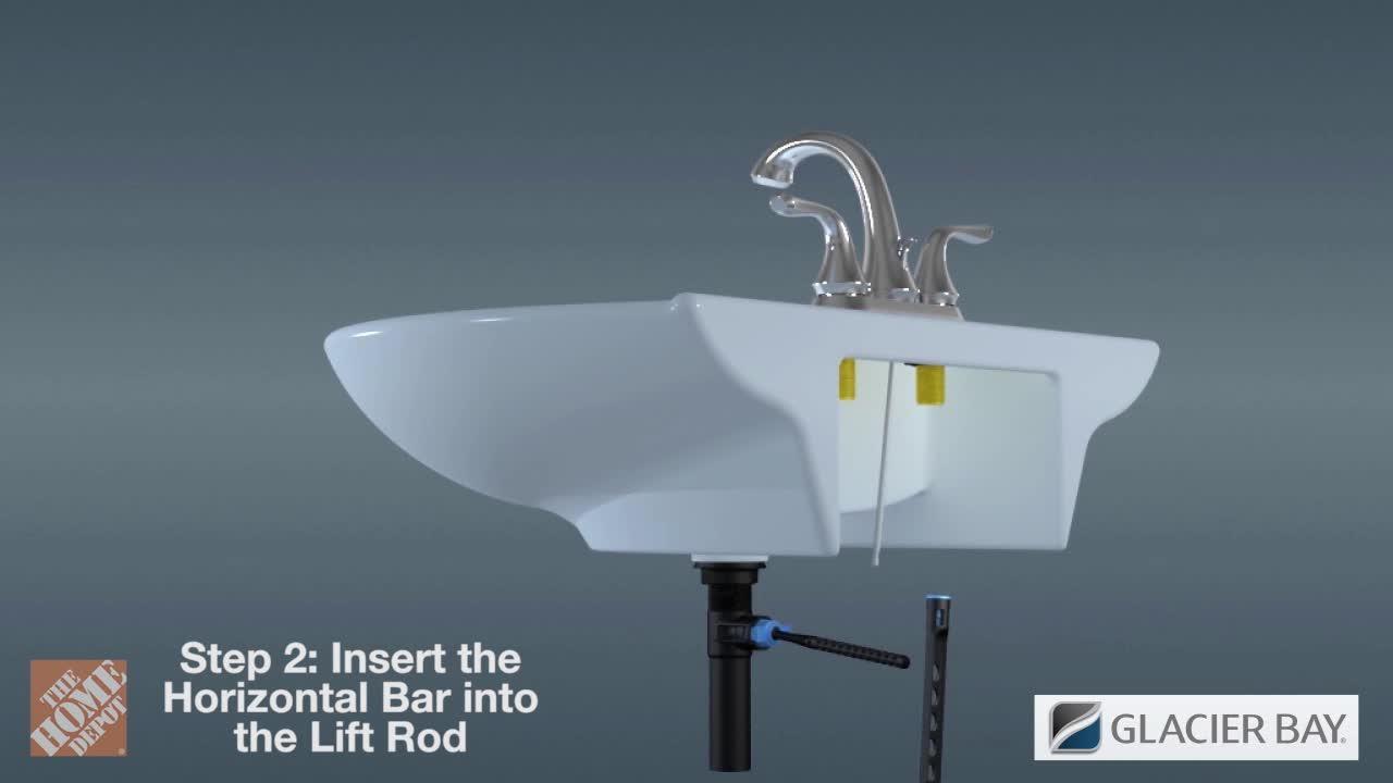 Glacier Bay - Modern Single Hole Single-Handle Low-Arc Bathroom Faucet in Matte Gold