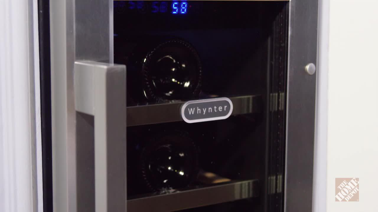 INV- 18-Bottle Built-In Wine Refrigerator in Stainless Steel