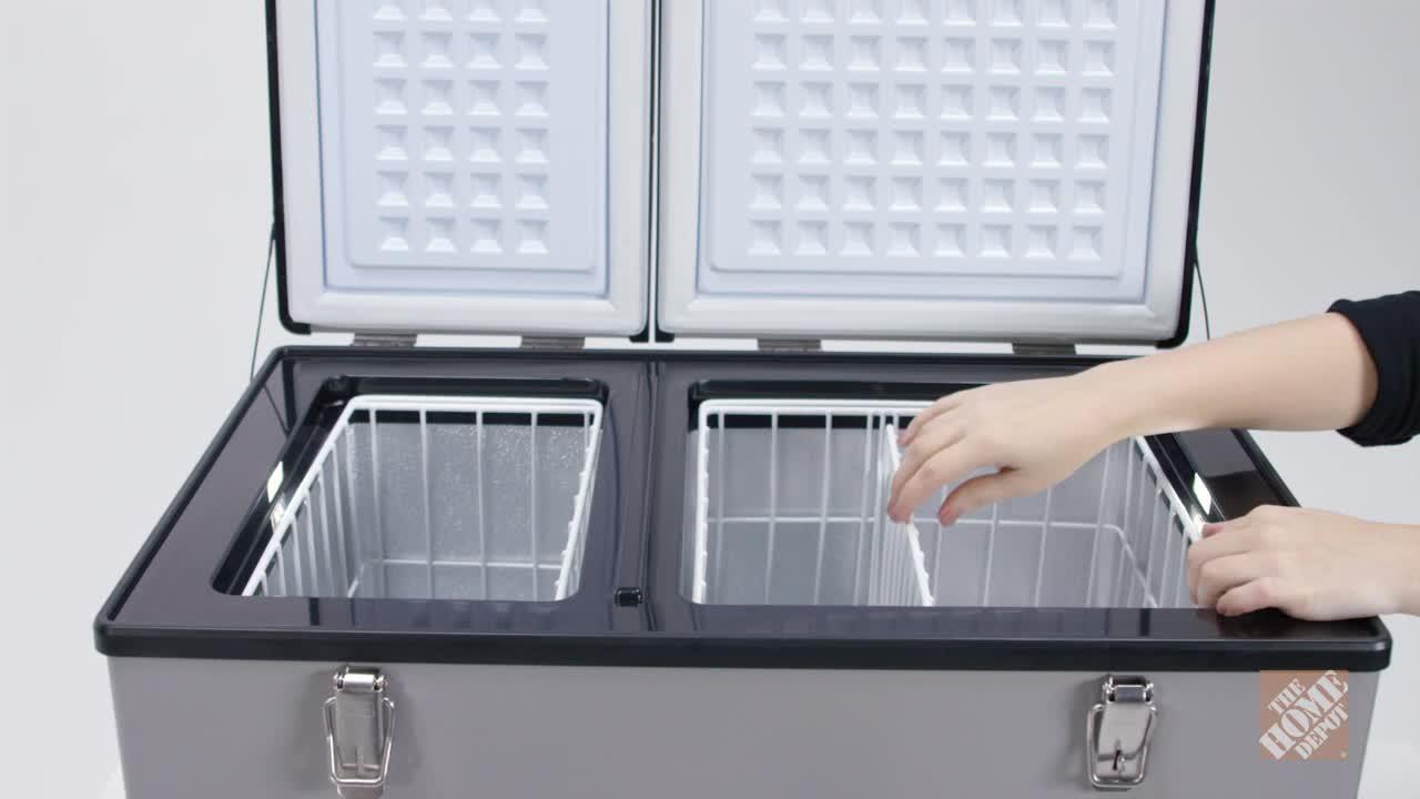 INV- 2 cu. ft. 62 Qt. Dual Zone Portable Freezer in Gray