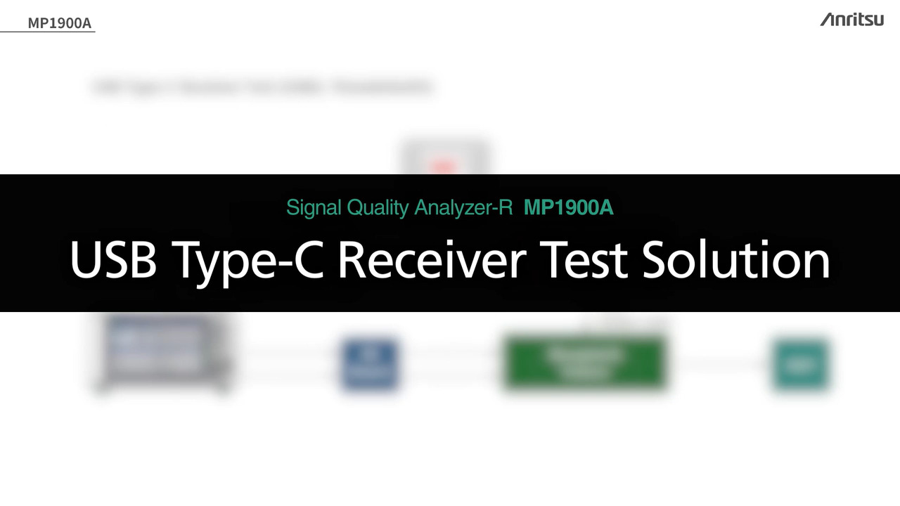 Explanation of Anritsu MP1900A USB4 Test Method