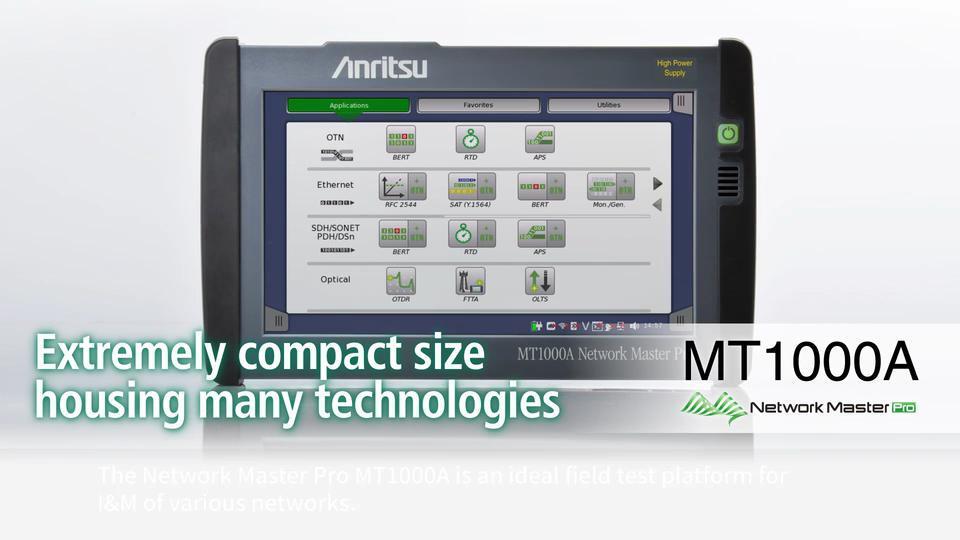 etwork Master Pro MT1000A 100G Solution