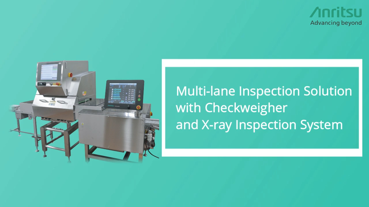 Multi-Lane Inspection Solution with Checkweigher and X-ray Inspection System