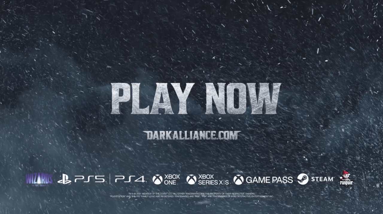 Dungeons & Dragons: Dark Alliance<br>is out now!