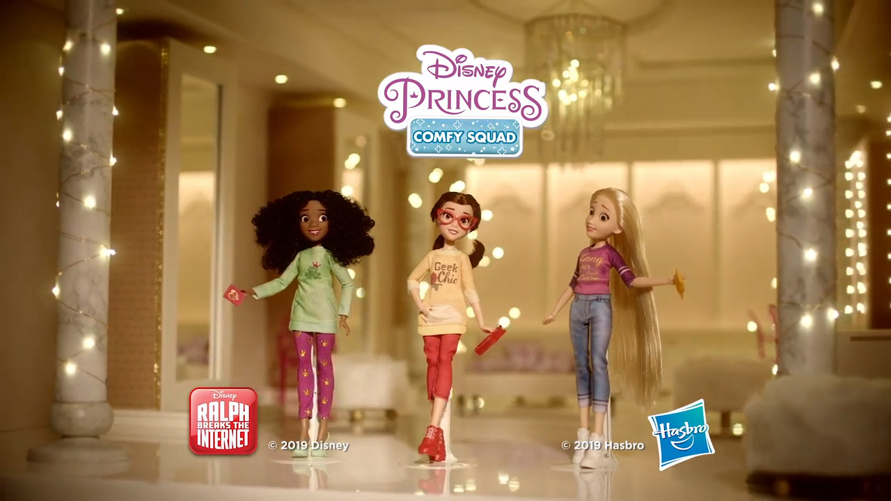 Girls' night in with the Comfy Princess characters
