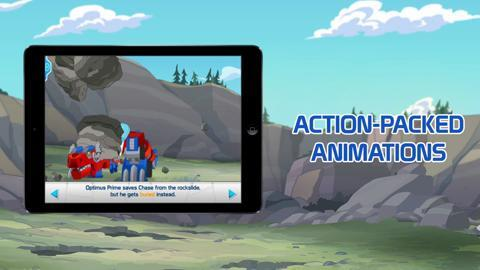 Transformers Rescue Bots: Dino Island Storybook App