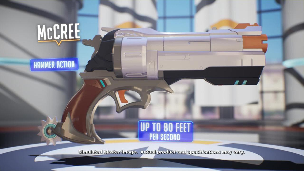 NERF Rival Overwatch Blasters: Reaper, D.VA and McCree