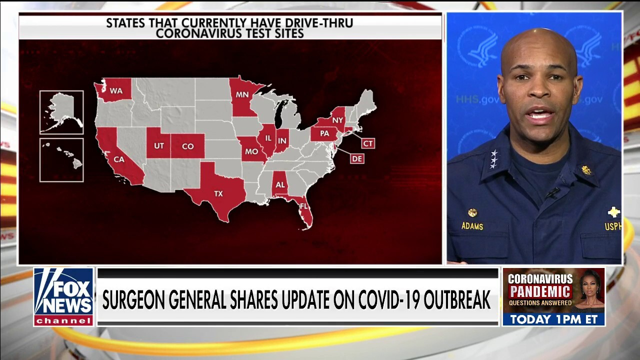 U.S. Surgeon General on who gov't will prioritize for coronavirus testing