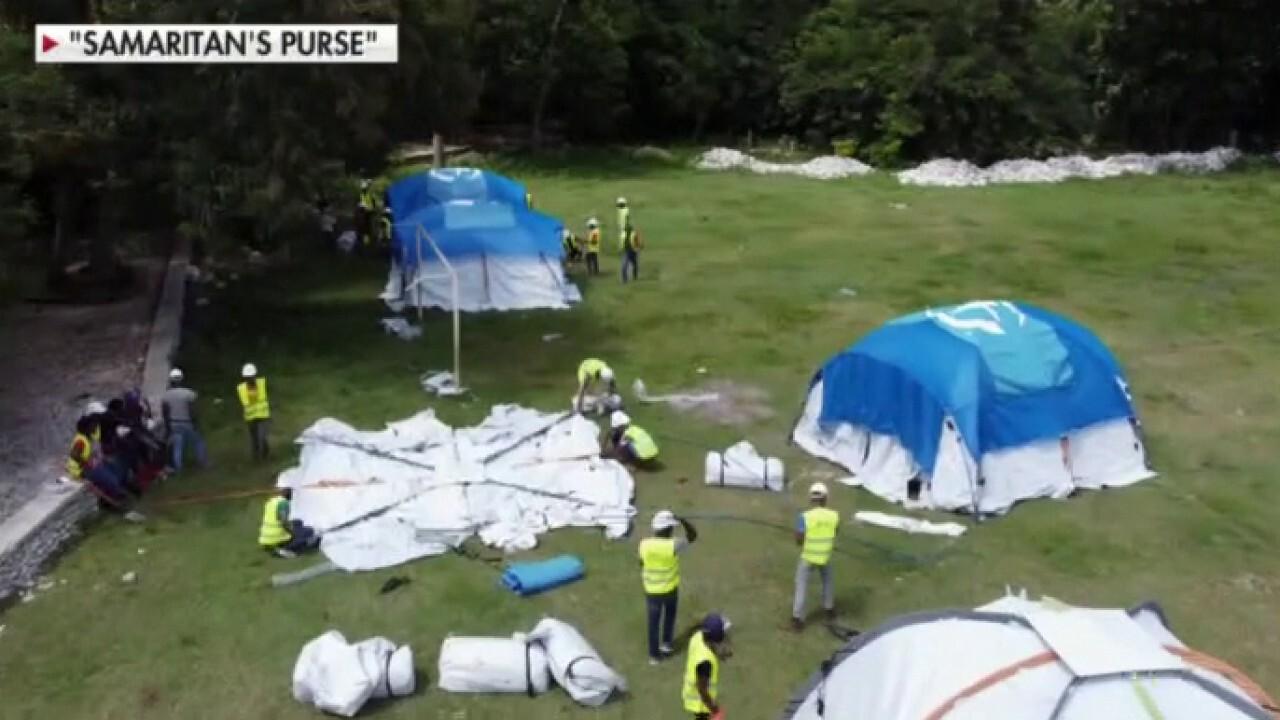 Samaritan's Purse builds hospital in Haiti, begins treating orthopedic injuries