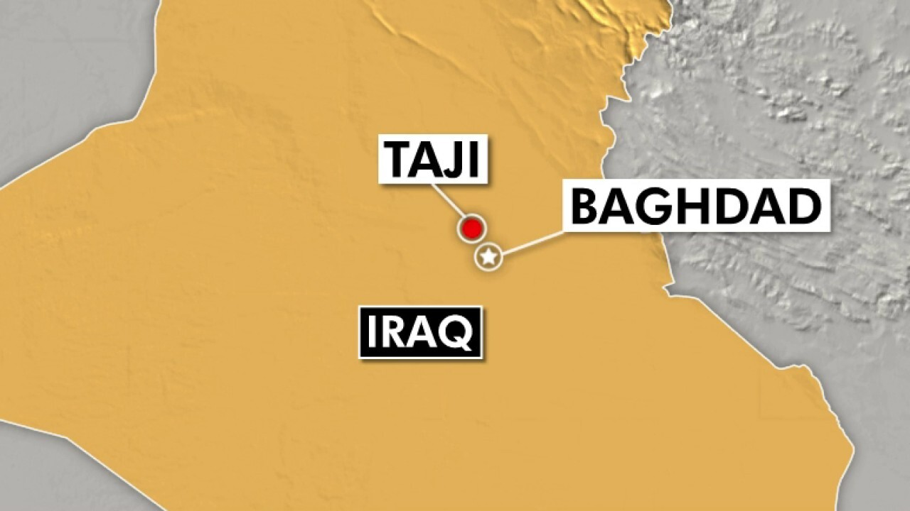 Three US troops wounded in rocket attack north of Baghdad