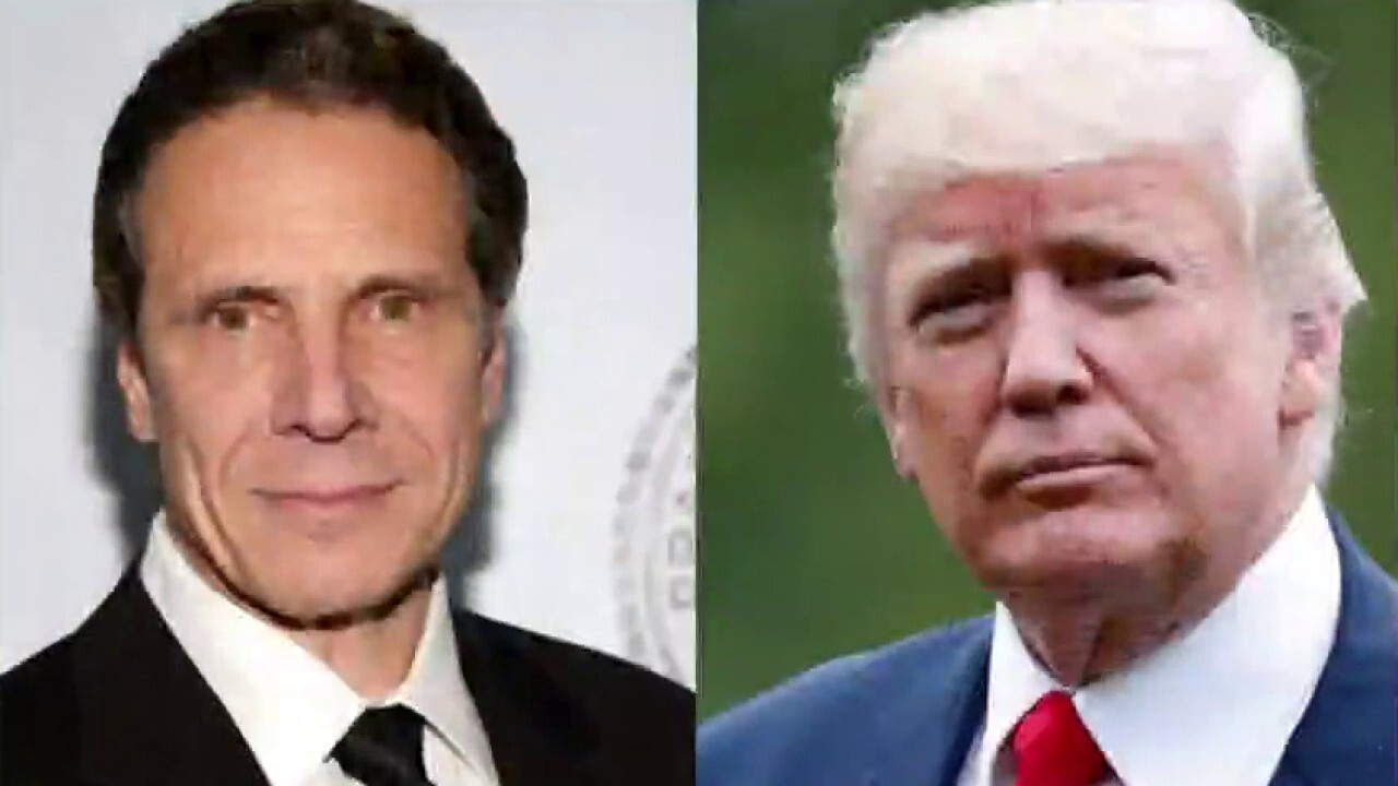 Gov. Andrew Cuomo says President Trump is not welcome in New York