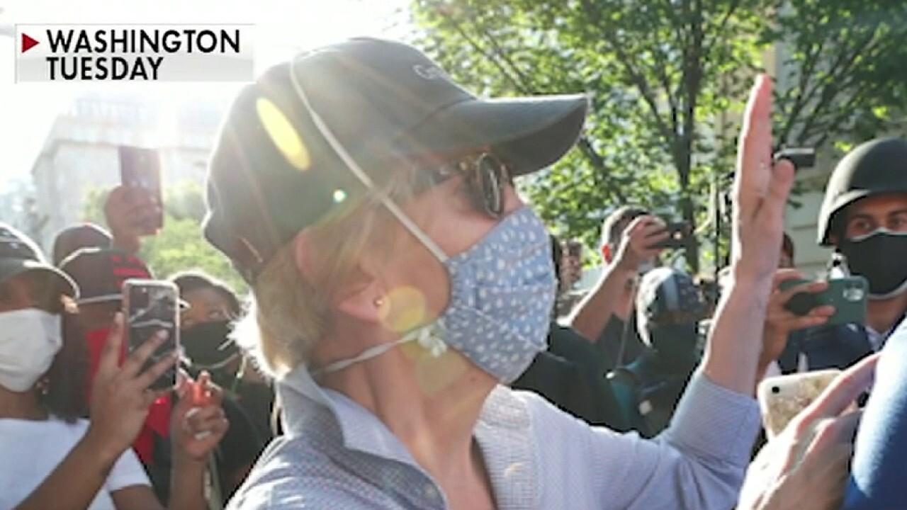 Sen. Elizabeth Warren joins protests in DC