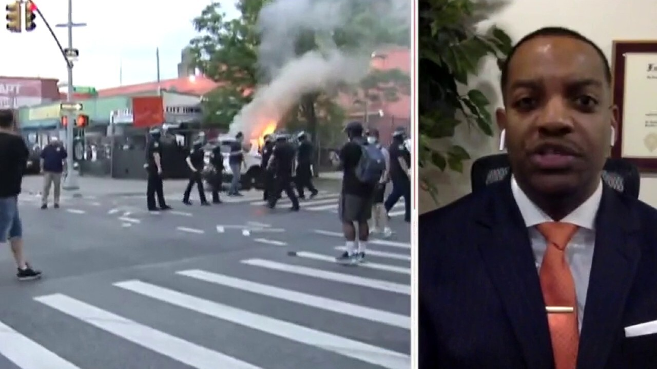 Dr. Darrin Porcher reacts to Trump saying Floyd's memory being dishonored by rioters