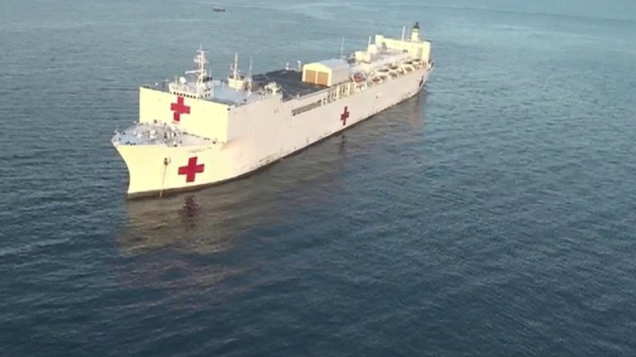 Pair of US Navy hospital ships will be deployed to New York, West Coast