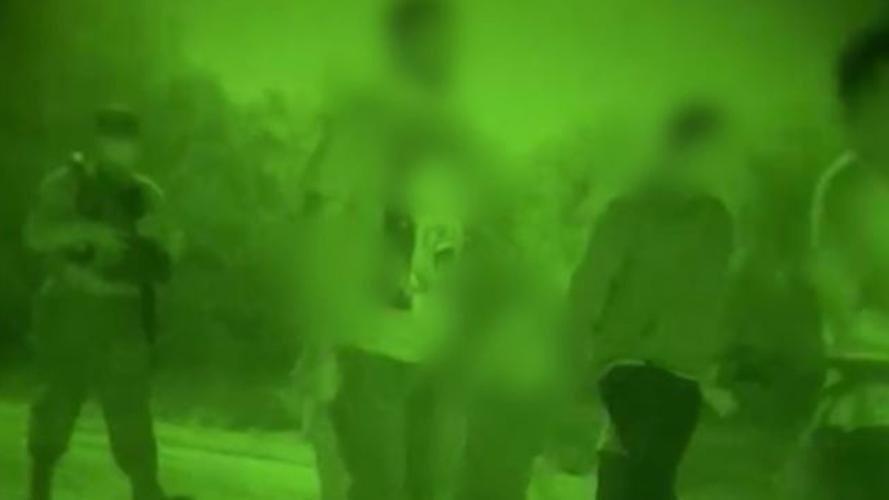 Nighttime border video shows group of adult men, small children in Texas National Guard custody