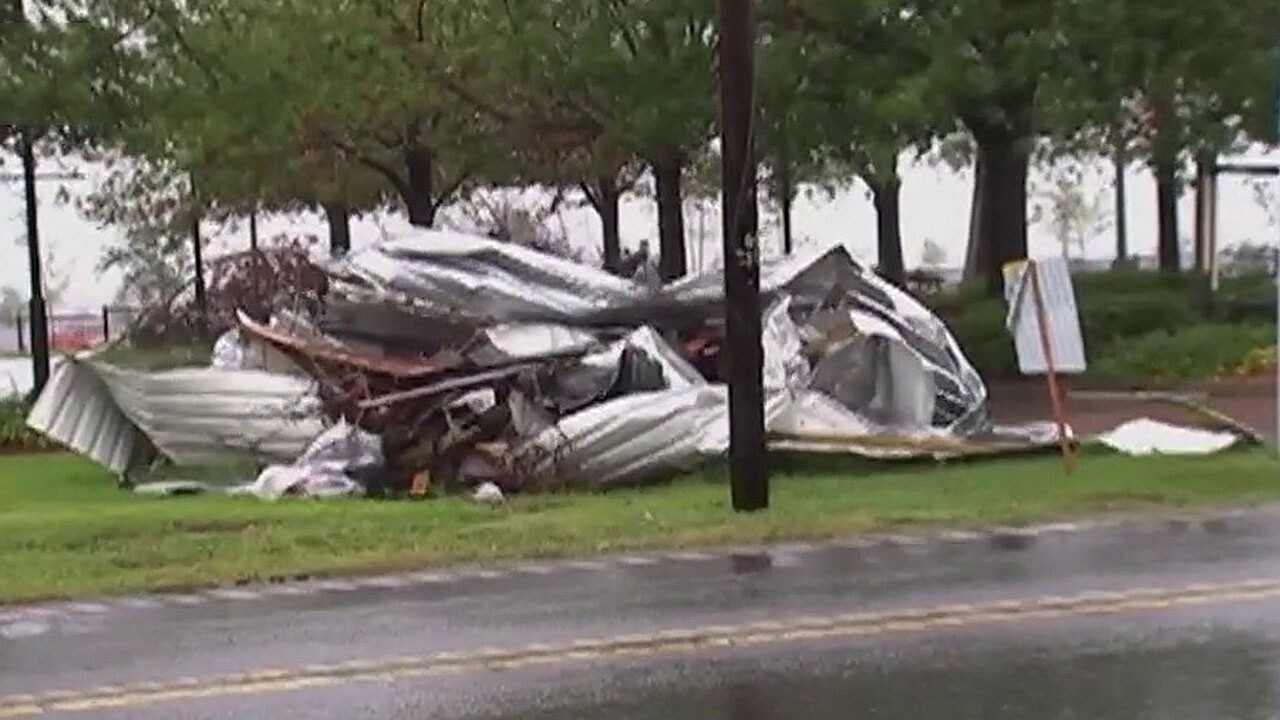 Hurricane Delta slams Louisiana as a Category 2 storm causing flooding and damaging buildings