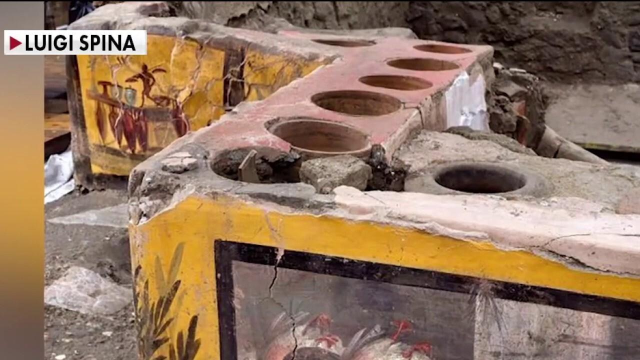 Excavators in Pompeii uncover secrets from fast-food restaurant