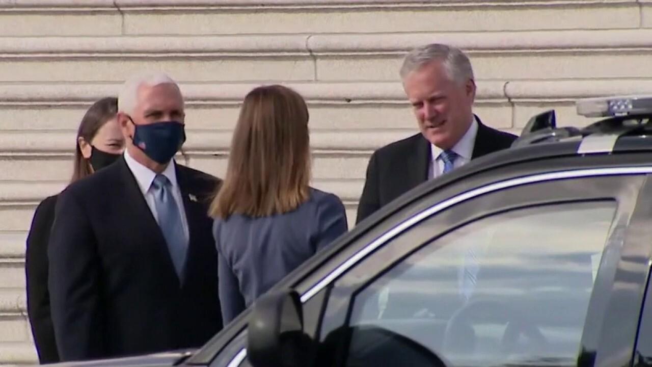 Amy Coney Barrett meets with GOP senators