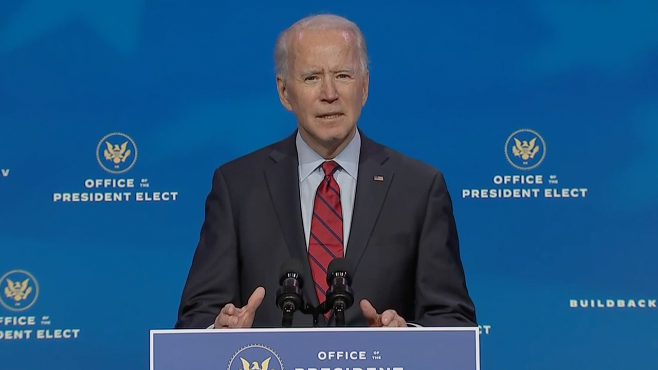 Biden vows to sign order on day one mandating masks 'where I can'