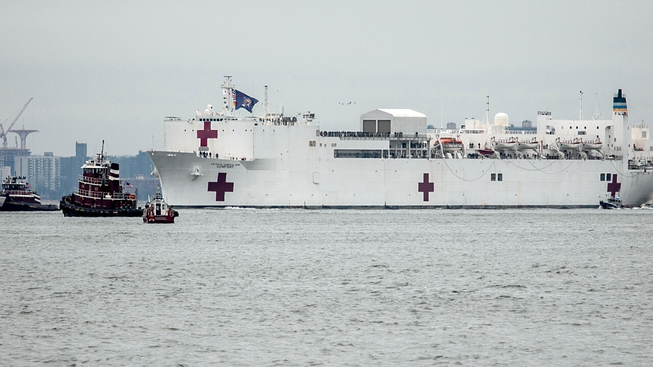 How will the USNS Comfort be able to help New York City hospitals?