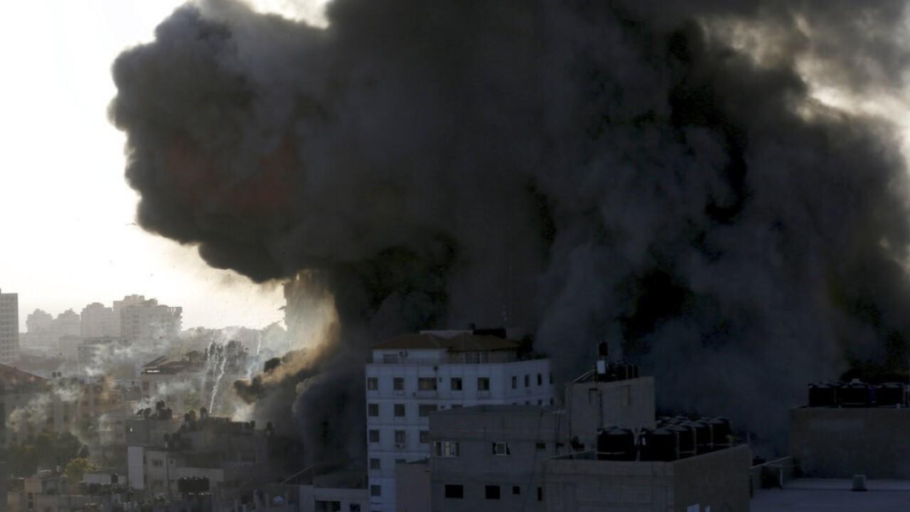 Dozens killed as Israel, Hamas trade rocket fire