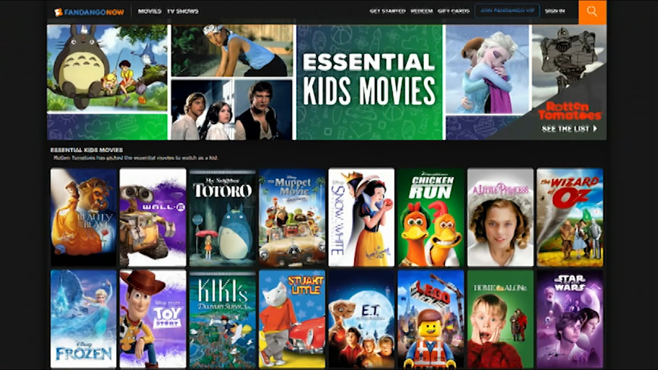 Fandango and Rotten Tomatoes offer list of movie recommendations for kids