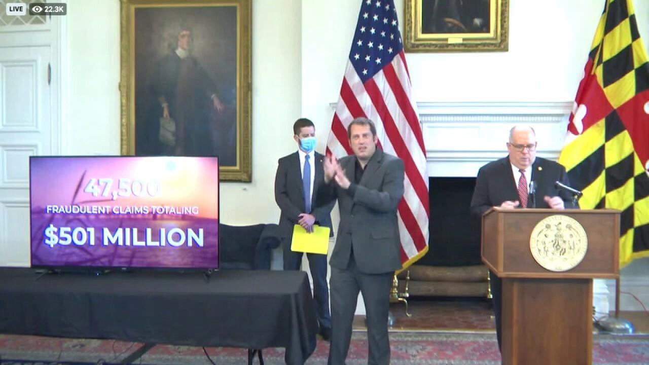 Gov. Larry Hogan on exposing a half billion in fraudulent unemployment claims