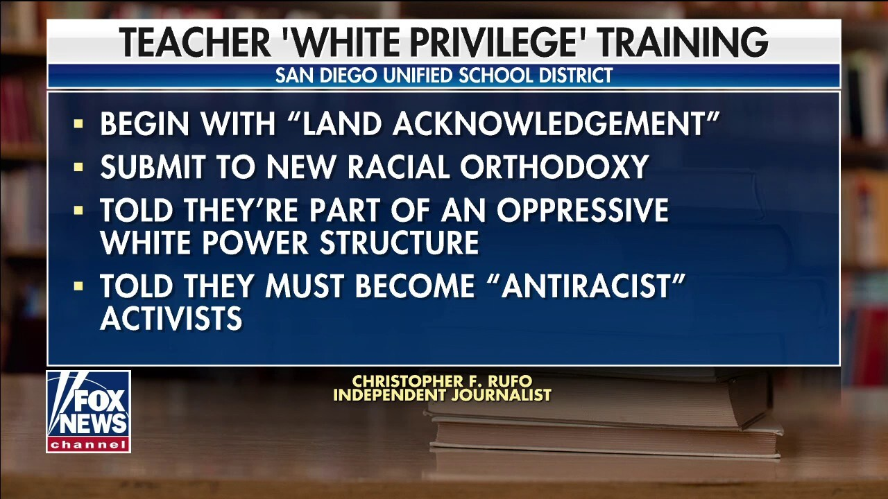 San Diego schoolteachers offered 'white privilege training'