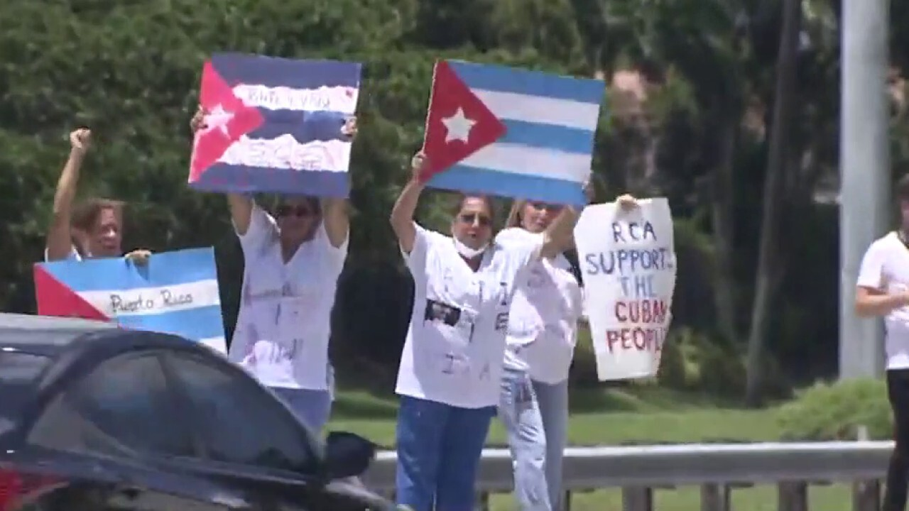 South Florida shows support for Cuba's fight for freedom