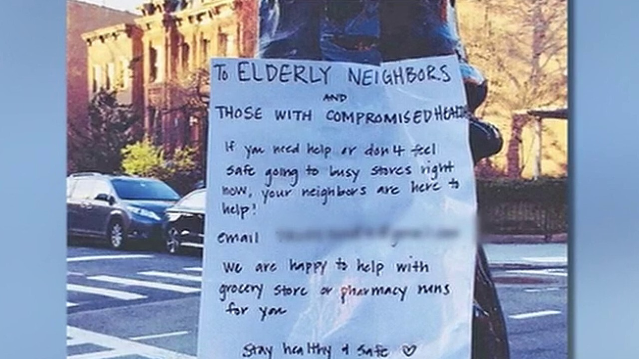 Young Americans supporting elderly neighbors by offering to buy groceries, medicine amid COVID-19 outbreak