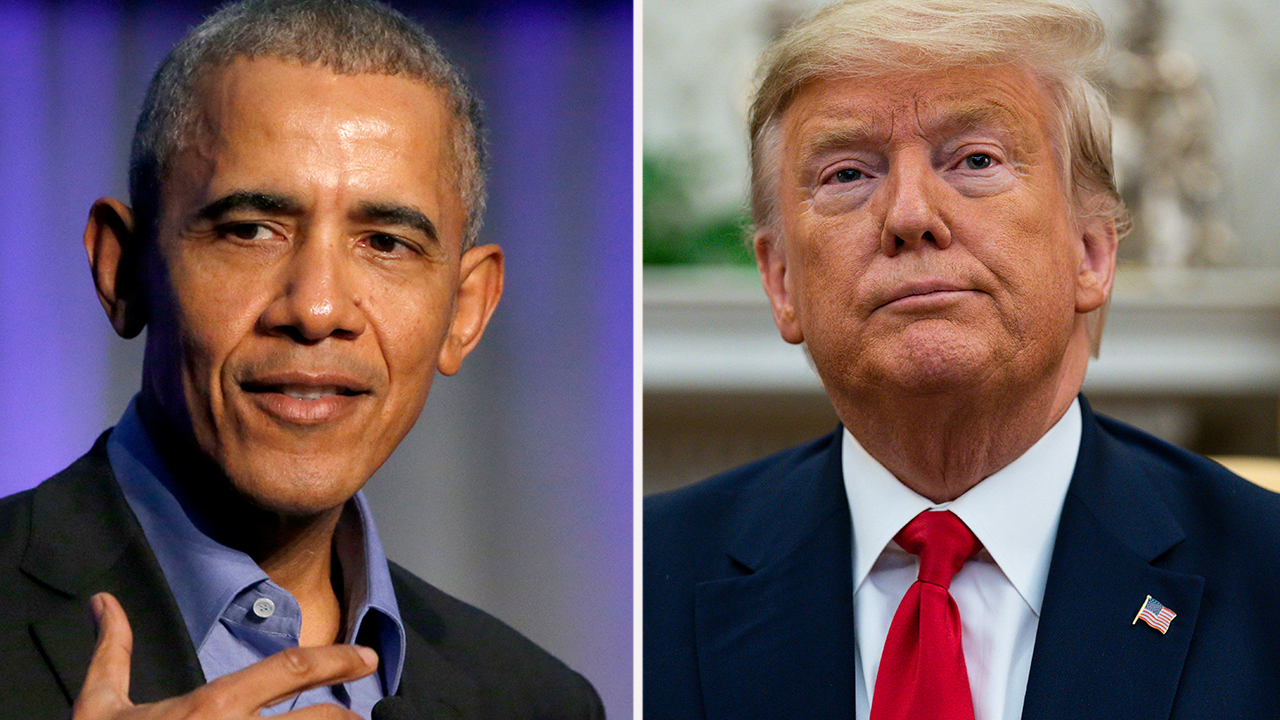 President Trump rejects Obama taking credit for booming US economy