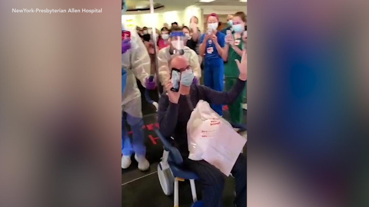 WATCH: coronavirus survivor gets celebratory sendoff after month in hospital